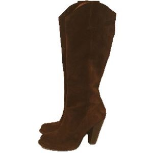 Frye Suede Heeled Boots (8)